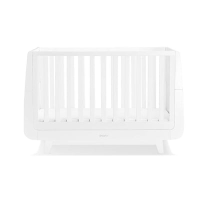 SnuzKot Luxe Cot Bed - White-Cot Beds- Natural Baby Shower