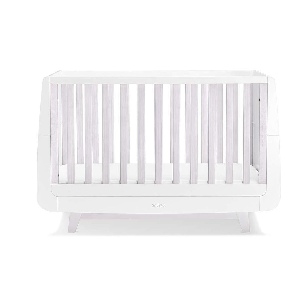 SnuzKot Luxe Cot Bed - Whitewash