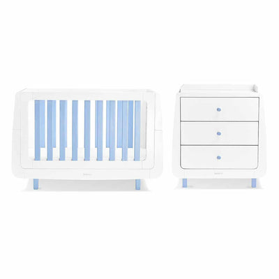 SnuzKot Mode 2 Piece Nursery Furniture Set - Blue-Nursery Sets- Natural Baby Shower