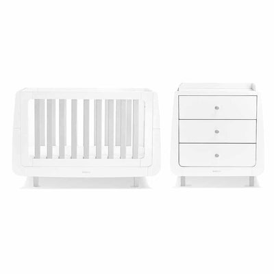 SnuzKot Mode 2 Piece Nursery Furniture Set - Grey-Nursery Sets- Natural Baby Shower