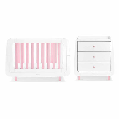 SnuzKot Mode 2 Piece Nursery Furniture Set - Pink-Nursery Sets- Natural Baby Shower
