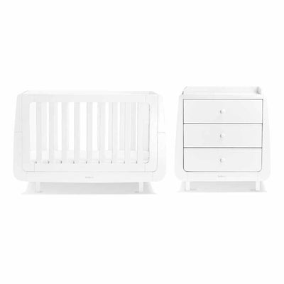 SnuzKot Mode 2 Piece Nursery Furniture Set - White-Nursery Sets- Natural Baby Shower