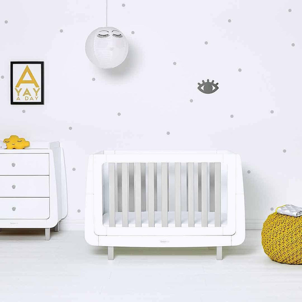 SnuzKot Mode Cot Bed - Grey Lifestyle 1