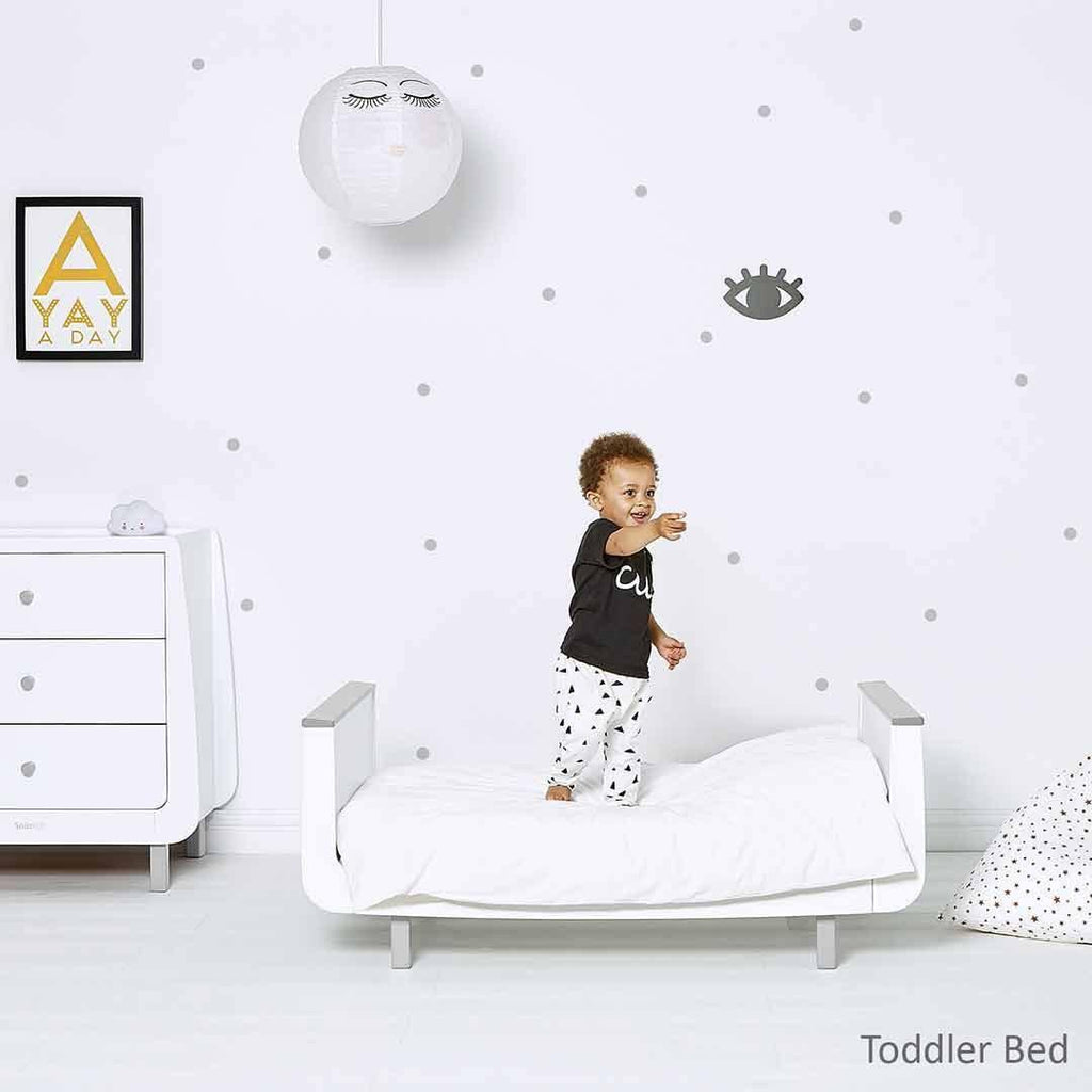 SnuzKot Mode Cot Bed - Grey Lifestyle