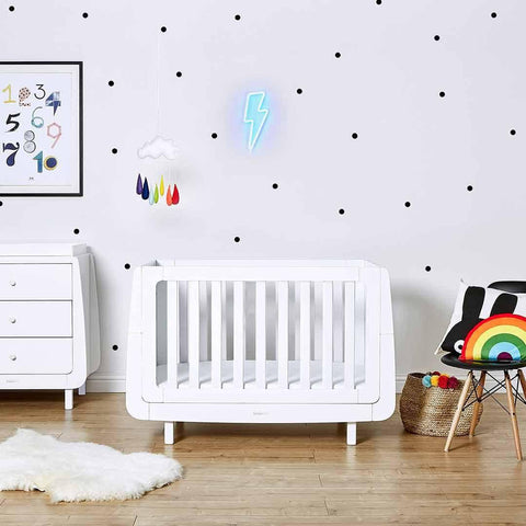 SnuzKot Mode 2 Piece Nursery Furniture Set - White Lifestyle 1