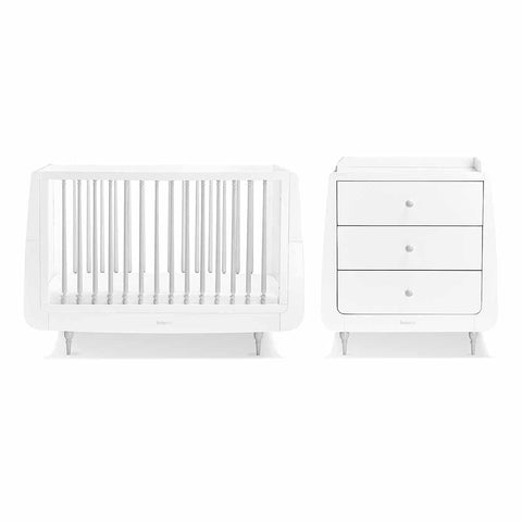 SnuzKot Rococo 2 Piece Nursery Furniture Set - Grey