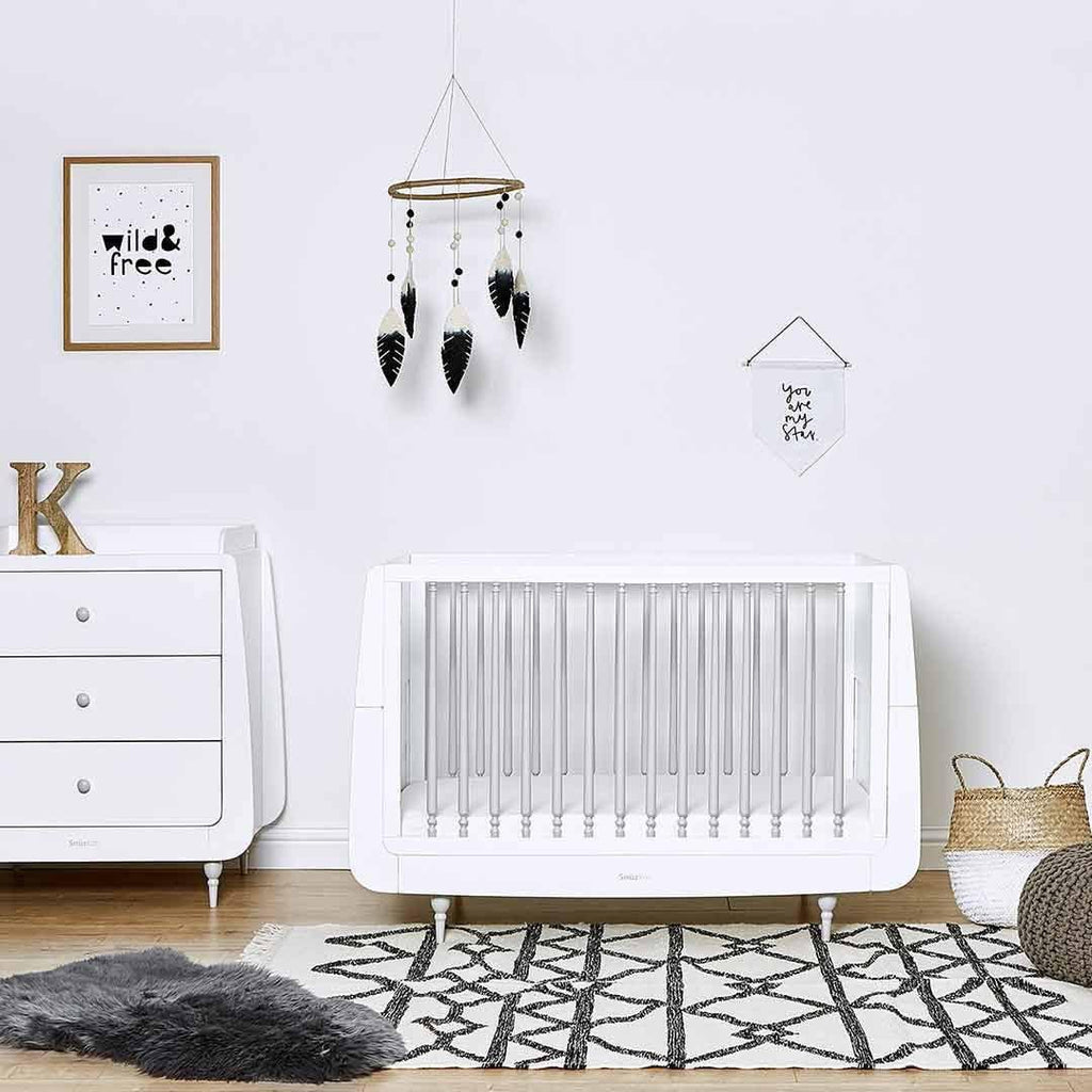 SnuzKot Rococo Changing Unit - Grey-Changing Tables- Natural Baby Shower