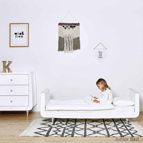 SnuzKot Rococo 2 Piece Nursery Furniture Set - Grey Lifestyle