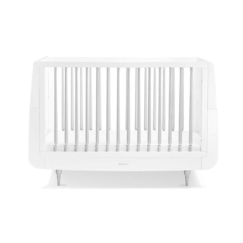 SnuzKot Rococo Cot Bed - Grey-Cot Beds- Natural Baby Shower