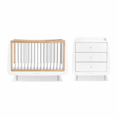 SnuzKot Skandi 2 Piece Nursery Furniture Set - Grey-Nursery Sets- Natural Baby Shower