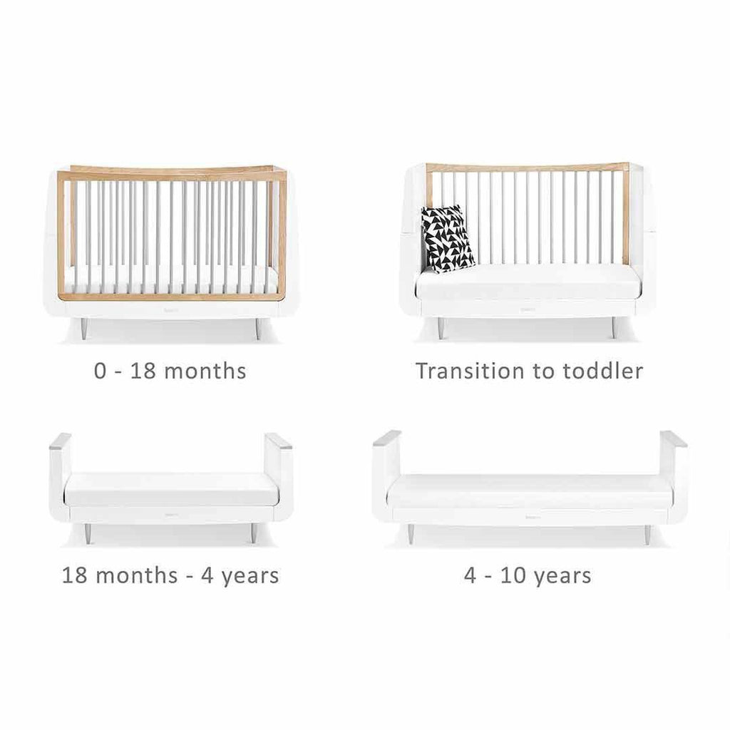 SnuzKot Skandi Cot Bed - Grey Ages