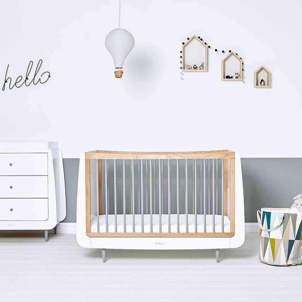 SnuzKot Skandi Cot Bed - Grey Lifestyle 1