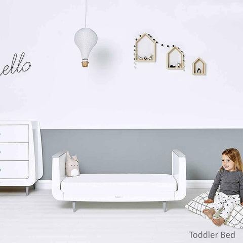 SnuzKot Skandi 2 Piece Nursery Furniture Set - Grey Lifestyle 1