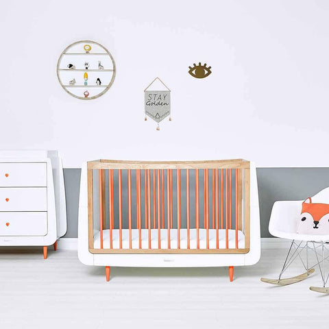 SnuzKot Skandi Changing Unit - Orange-Changing Tables- Natural Baby Shower