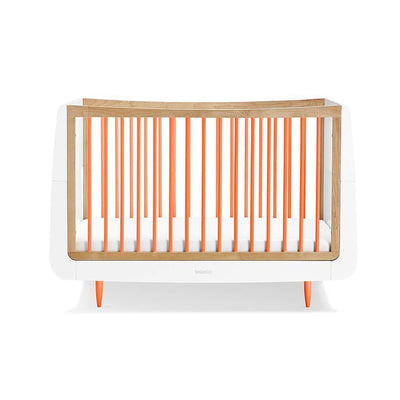 SnuzKot Skandi Cot Bed - Orange-Cot Beds- Natural Baby Shower