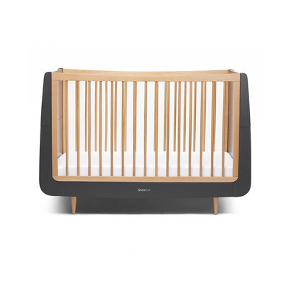 SnuzKot Skandi Cot Bed - Slate Natural-Cot Beds- Natural Baby Shower