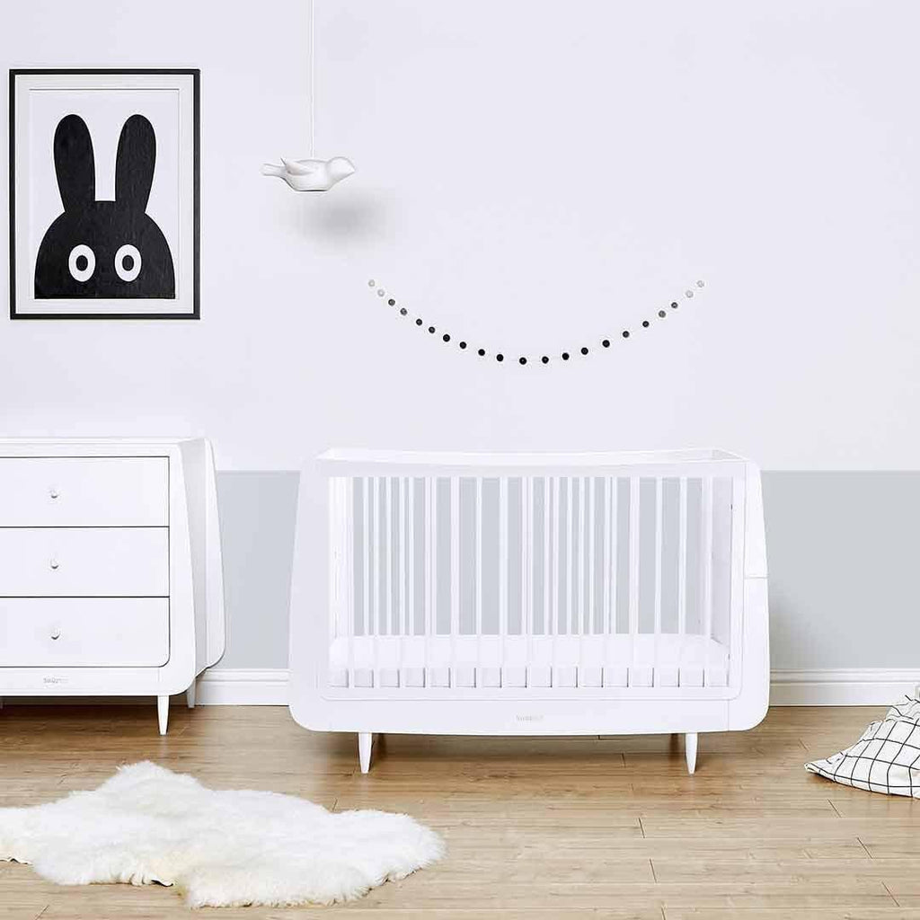 snuzkot skandi 2 piece nursery furniture set white lifestyle