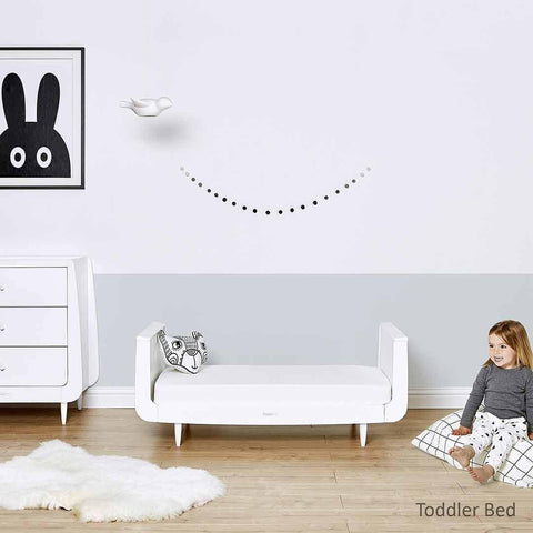 SnuzKot Skandi 2 Piece Nursery Furniture Set - White Lifestyle 2