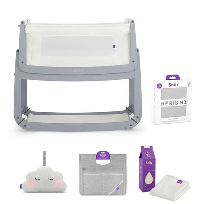 SnuzPod 3 Bedside Crib + Accessories Bundle - Dove Grey-Cribs-Default- Natural Baby Shower