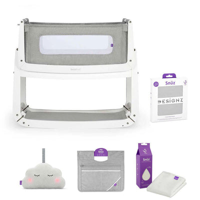 SnuzPod 3 Bedside Crib + Accessories Bundle - Dusk Grey-Cribs-Default- Natural Baby Shower