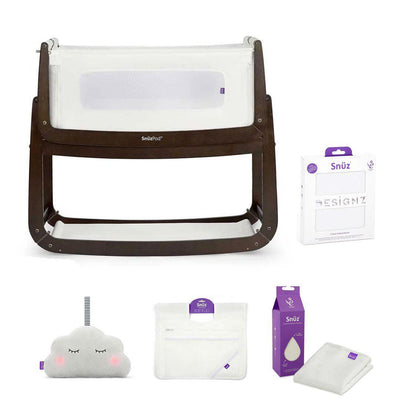 SnuzPod 3 Bedside Crib + Accessories Bundle - Espresso-Cribs-Default- Natural Baby Shower