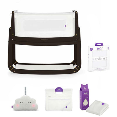 SnuzPod 3 Bedside Crib + Accessories Bundle - Luna-Cribs-Default- Natural Baby Shower