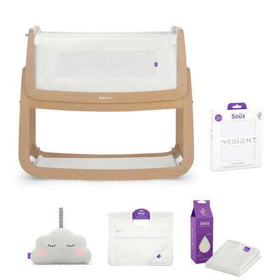 SnuzPod 3 Bedside Crib + Accessories Bundle - Natural-Cribs-Default- Natural Baby Shower
