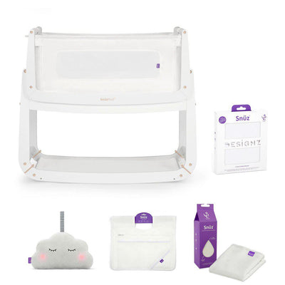 SnuzPod 3 Bedside Crib + Accessories Bundle - White + Rose Gold-Cribs-Default- Natural Baby Shower