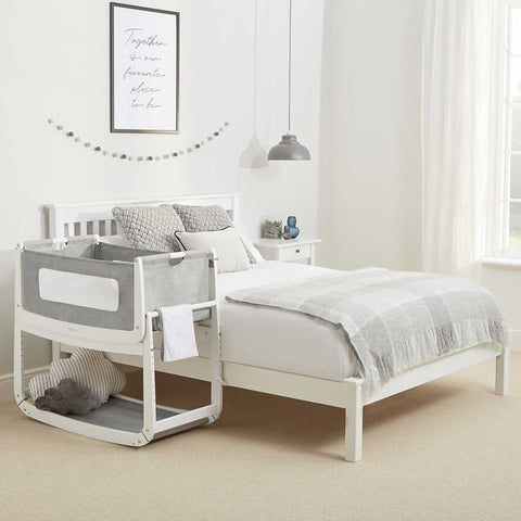 SnuzPod 3 Bedside Crib with Mattress - Dusk Grey-Cribs-Default- Natural Baby Shower