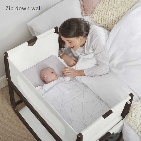 SnuzPod 3 Bedside Crib with Mattress - Espresso-Cribs-Default- Natural Baby Shower