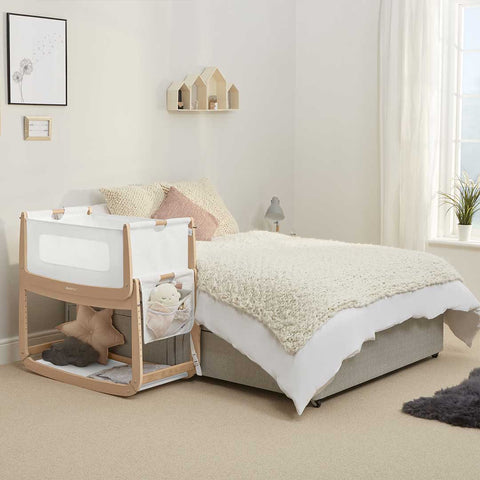 SnuzPod 3 Bedside Crib with Mattress - Natural-Cribs-Default- Natural Baby Shower