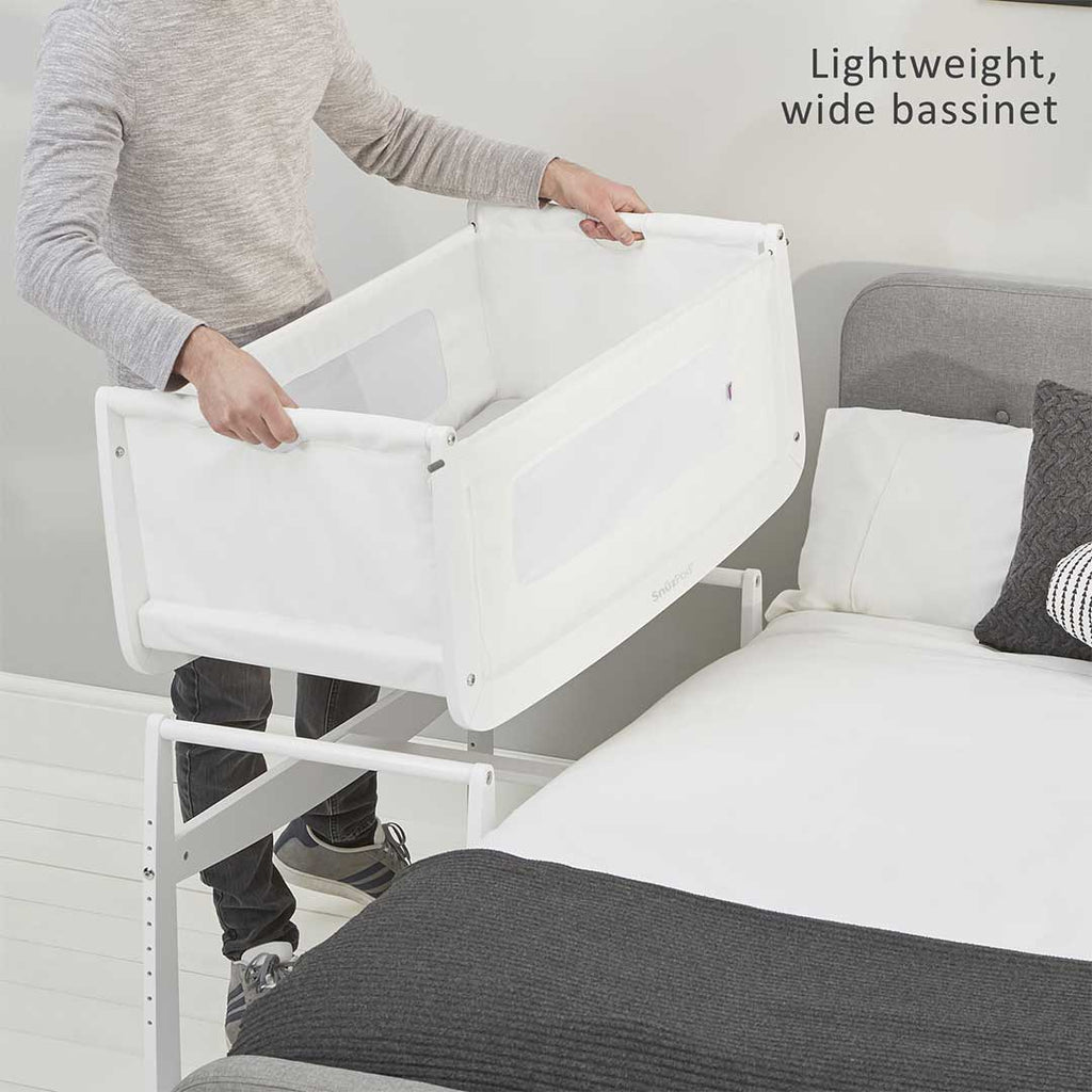 Snuzpod 3 bedside crib with mattress white cribs default natural baby shower