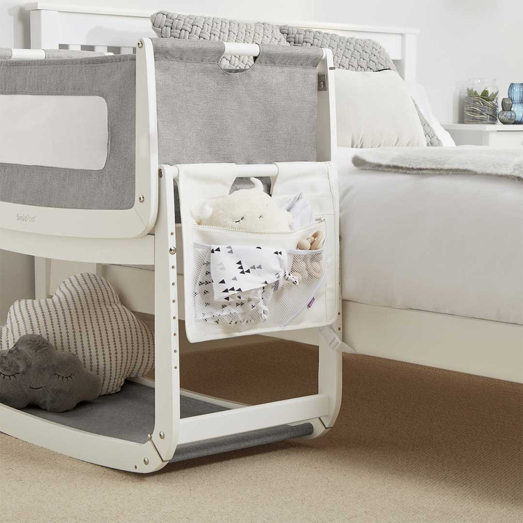 SnuzPod 3 Storage Pocket - White-Storage Pockets- Natural Baby Shower
