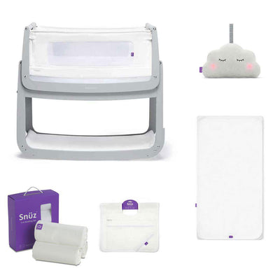 SnuzPod4 Bedside Crib + Accessories Bundle - Dove Grey-Cribs-Default- Natural Baby Shower