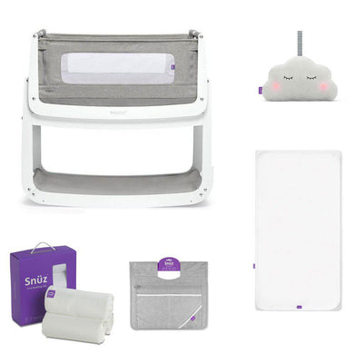SnuzPod4 Bedside Crib + Accessories Bundle - Dusk Grey-Cribs-Default- Natural Baby Shower