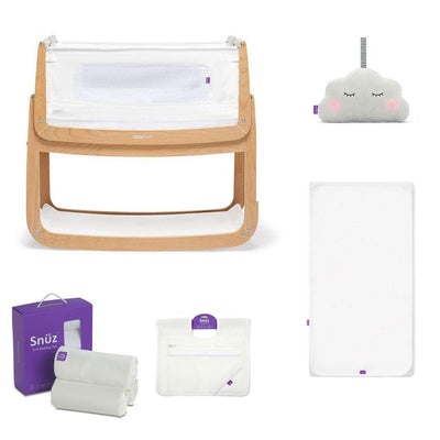 SnuzPod4 Bedside Crib + Accessories Bundle - Natural-Cribs-Default- Natural Baby Shower