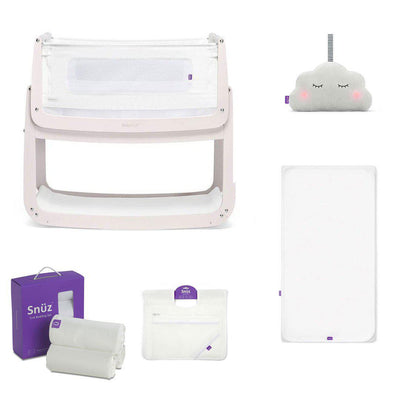 SnuzPod4 Bedside Crib + Accessories Bundle - Rose White-Cribs-Default- Natural Baby Shower