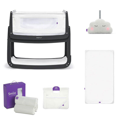 SnuzPod4 Bedside Crib + Accessories Bundle - Slate-Cribs-Default- Natural Baby Shower