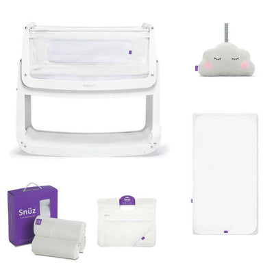 SnuzPod4 Bedside Crib + Accessories Bundle - White-Cribs-Default- Natural Baby Shower