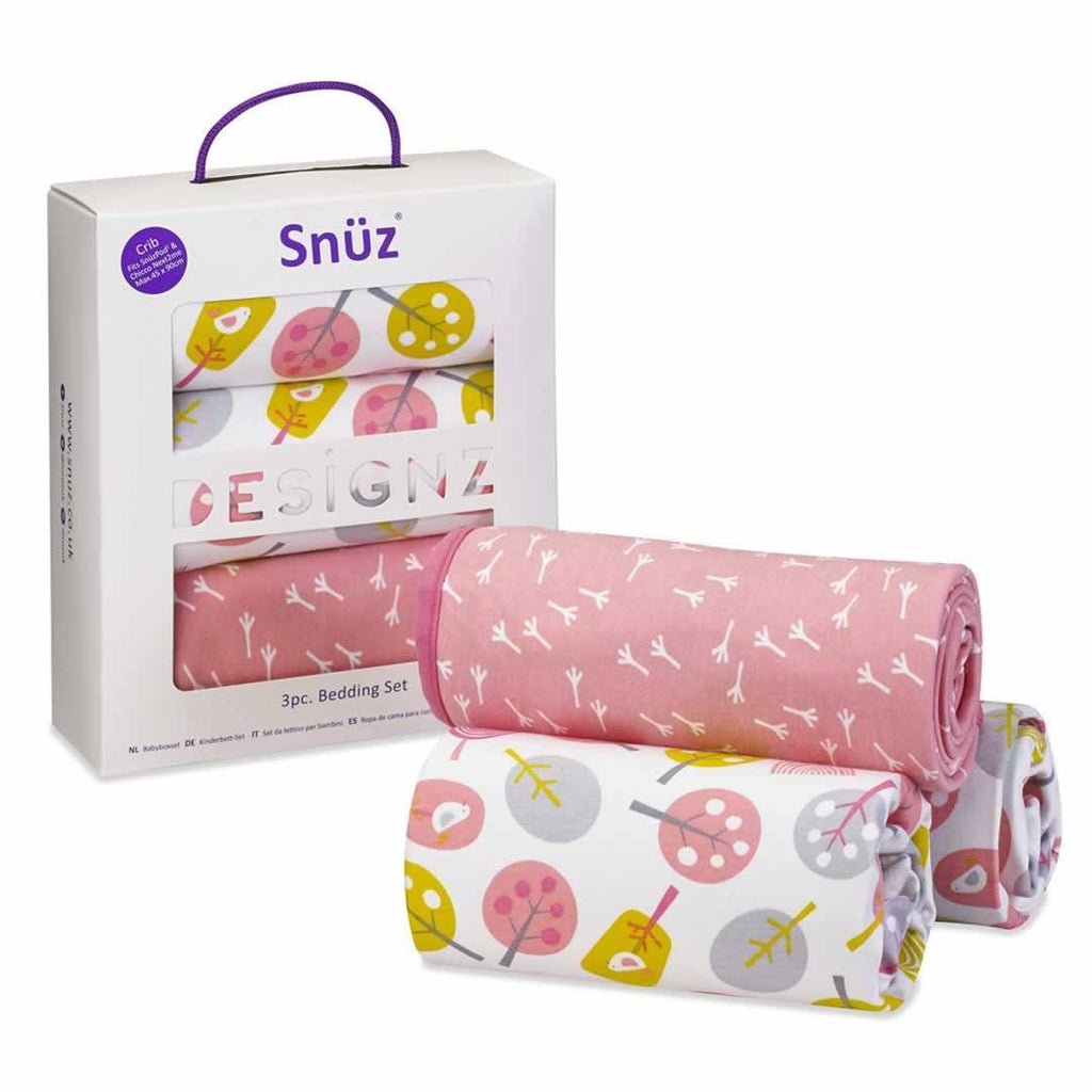 SnuzPod 3pc Bedding Set - Little Tweets - Sheets & Bedding - Natural Baby Shower