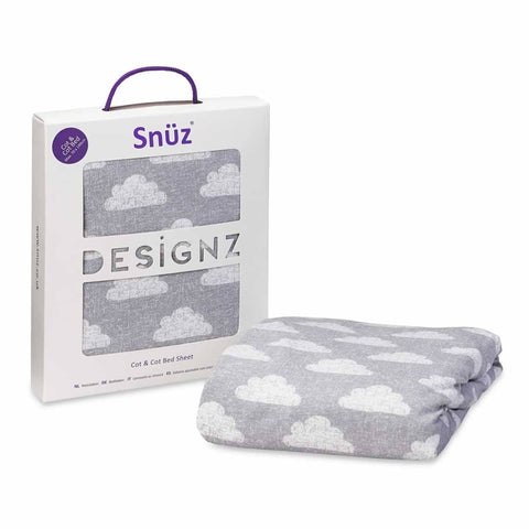 Snuz Cot & Cot Bed Fitted Sheet - Cloud Nine-Sheets- Natural Baby Shower