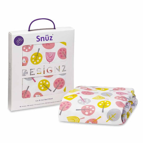SnuzPod Cot/Cot Bed Sheet in Little Tweets