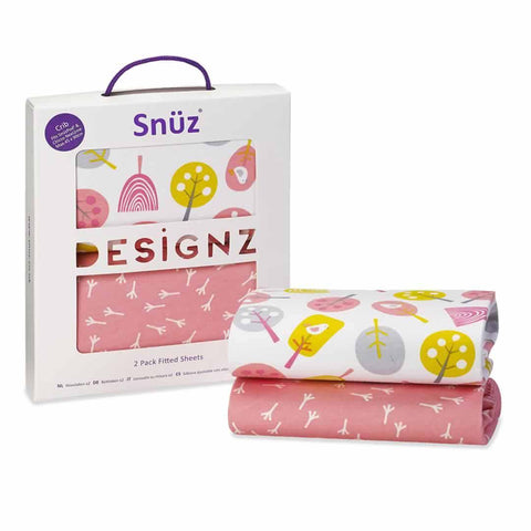 SnuzPod Twin Pack Crib Sheet in Little Tweets