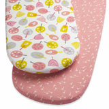 SnuzPod Twin Pack Moses Basket Sheet Little Tweets
