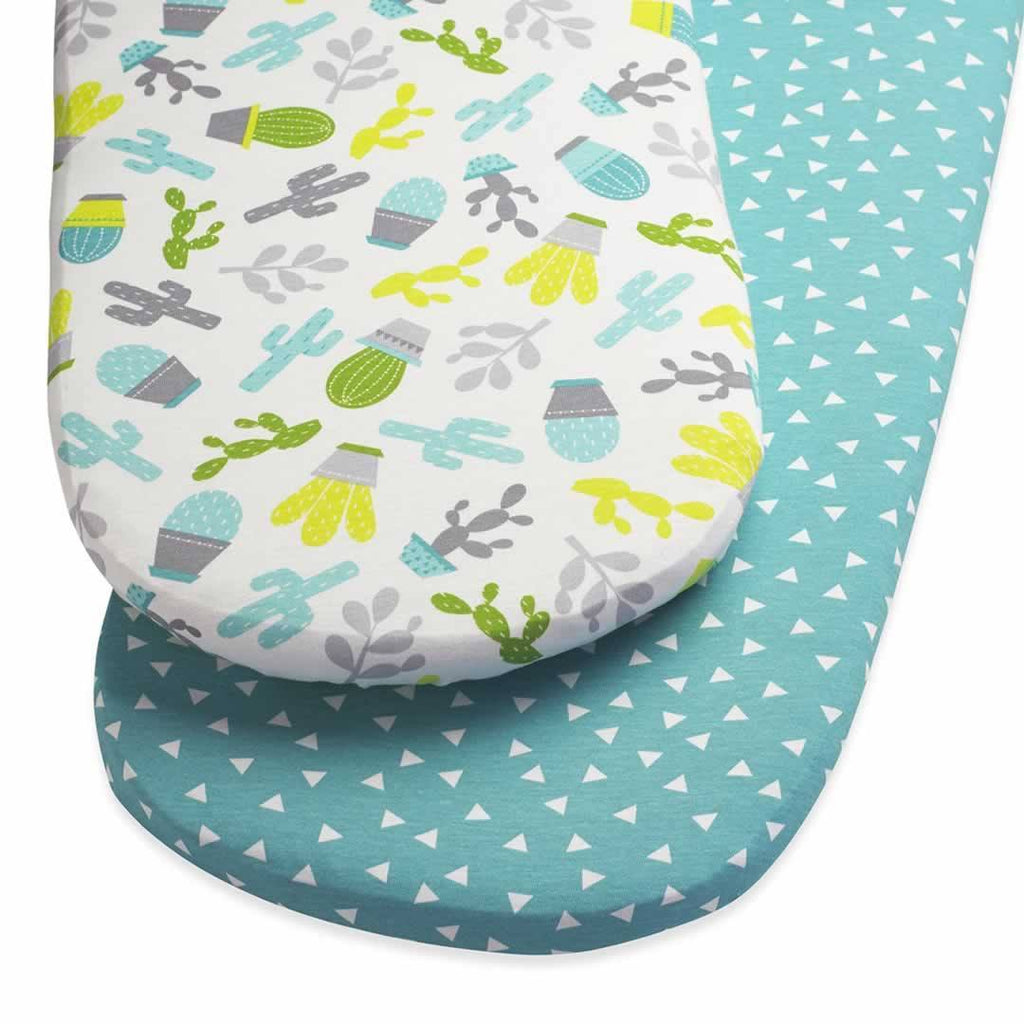 SnuzPod Twin Pack Moses Basket Sheet - Rootin' Tootin' - Sheets & Bedding - Natural Baby Shower