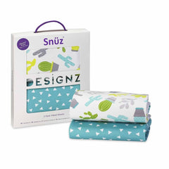 SnuzPod Twin Pack Moses Basket Sheet in Rootin' Tootin'