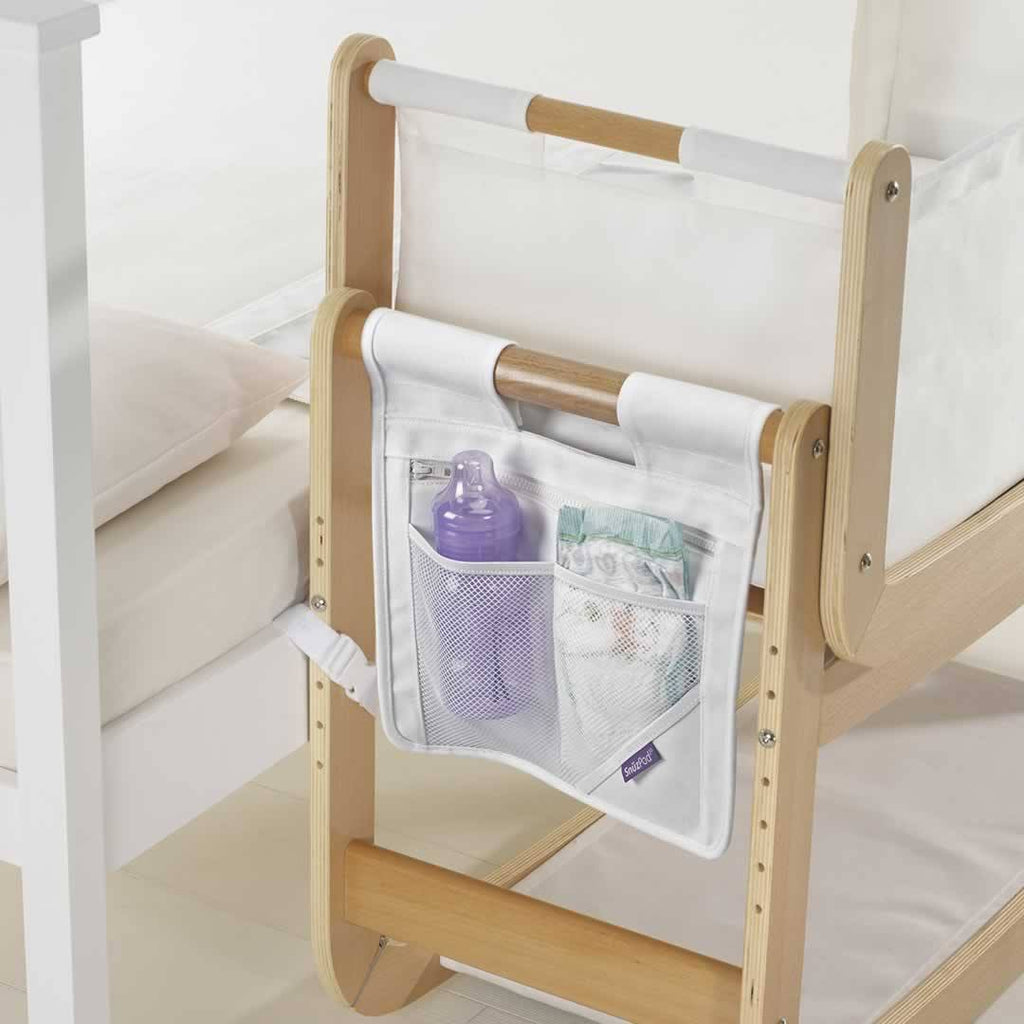 SnuzPod Bedside Crib Pocket on Snuzpod Lifestyle