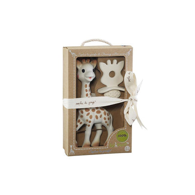 Sophie La Giraffe & So Pure Natural Teether Set-Soft Toys-Default- Natural Baby Shower