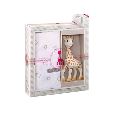 Sophie la Giraffe - Sophiesticated The Swaddle Set-Swaddling Wraps-One Size- Natural Baby Shower