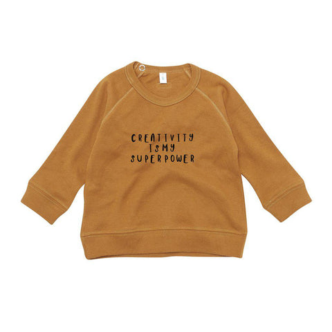 Organic Zoo Creativity Sweatshirt - Spice-Jumpers- Natural Baby Shower